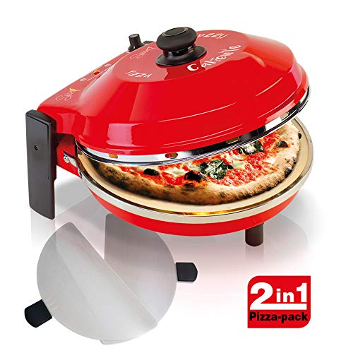 Spice Set Pack 2 Palette Acciaio inox + Forno Pizza Caliente 400 gradi resistenza circolare 1200 W Garanzia Italia 2 anni