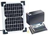 revolt Solar Set: Solarpanel (5 W) mit Ladewandler und Blei-Akku (Solaranlagen)