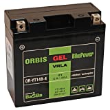 Orbis Gel12-14B-4 Motorradbatterie - YT14B-4 12 Volt 12 Ah 280 A