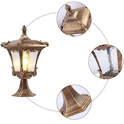 (Farbe: Bronze-Höhe 60cm) Europäische Türleuchte Hof Traditionelle Säulenlampe Außenpfosten Laternenlicht Wasserdicht Villa Street Park Terrassendielen Terrassenbeleuchtung Hängende Beleuchtung -