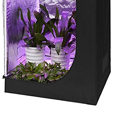 Finether Growzelt Growbox Growschrank Gewächszelt Zuchtzelte Zuchtschrank mit Hydro Shoot Lichtdicht und wasserdicht für Homegrowing von Finether - Du und dein Garten