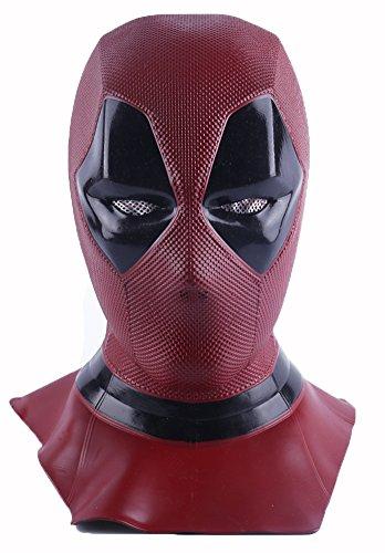 Cosplay Wunder & Deadpool Kostüm, Deadpool Movie Style Cosplay Maske für Kostüm - (Vollkopf Maske, Rot, Latex) (DP-mask) (Kostüm Cosplay)