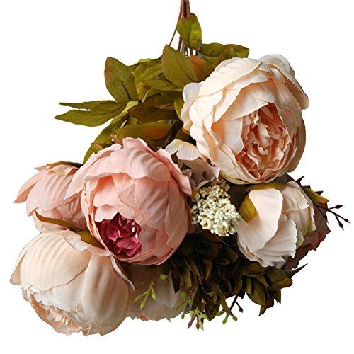 WINOMO Faux Festival Celebration Pivoine Pivoine Pivoine pour la décoration de la maison de mariage (rose)
