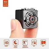 FITFORT Minikamera, FULL HD 1080P 12MP tragbare versteckte Spionage-Kamera mit Nachtsicht, Bewegungserkennung, unterstützt 16GB TF-Karten als Nanny Cam oder für Heim-und Büro-Überwachung