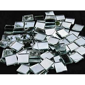 20x20mm Mirror Glass Mosaic Tiles 3mm thick 100 Tiles by Hobby Island Mosaics
