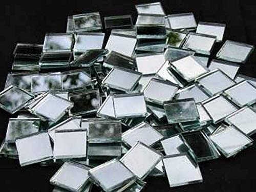 Mosaic Mirror tiles 20 x 20mm mirror tiles 3mm thick 100 tile pack