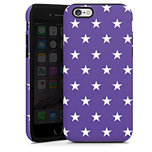 Apple iPhone 5s Housse Étui Protection Coque Petite étoile Rockabilly Lilas Cas Tough terne