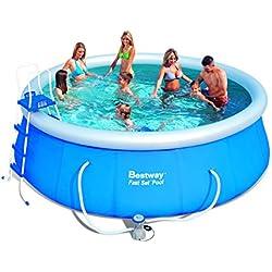 Bestway 57148 Fast Set Pool Set mit Filterpumpe + Zubehör 457x122cm