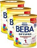 Nestlé BEBA OPTIPRO Kindermilch ab dem 1. Geburtstag, für eine altersgerechte Ernährung, Milchgetränk mit den Vitaminen A, C & D, 3er Pack (3 x 800 g)