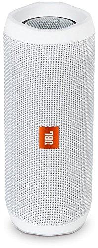 JBL Flip 4 (Ein Voll ausgestatteter, Wasserdichter und Mobiler Bluetooth-Lautsprecher mit überraschend kraftvollem Sound) Weiss