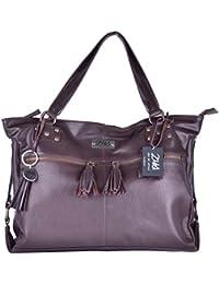 ZMS Women's Hand Bag ( Brown) (EB008)