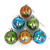 COOLWEST 6-teilige Weihnachtskugel-Set Weihnachtskugeln Christbaumkugeln Weihnachtsbaumschmuck Baumkugeln (Grün + Blau + Gold)