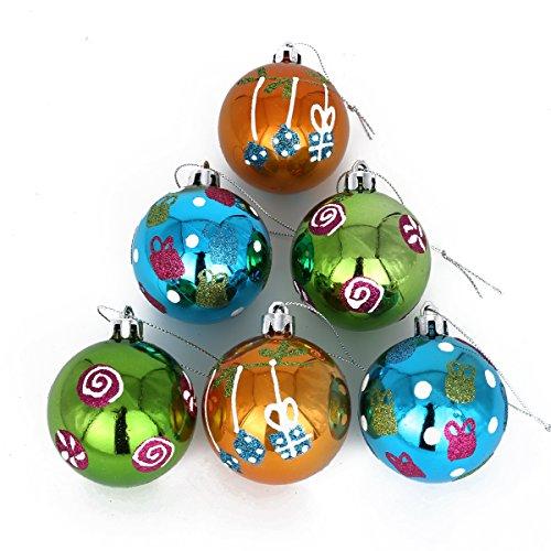 Coolwest 4cm natalizie palle set confezione da decorazioni per l' albero di natale (verde/blu/oro)