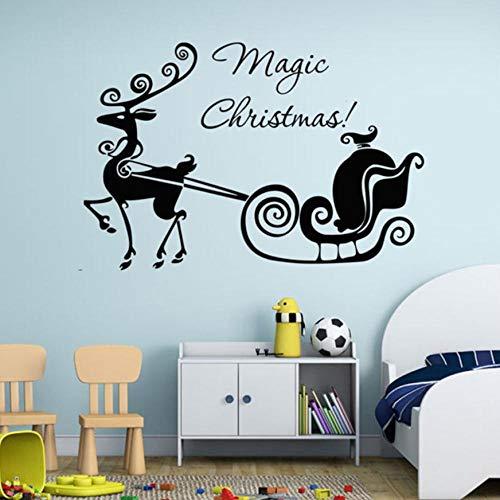 e Weihnachten Wagen Wandaufkleber Vinyl Home Decor DecalsWandaufkleberBaum Home Decor Wohnzimmer45x58 cm ()