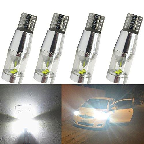WLJH 4pcs T10 AMPOULE LED Pc194 2825 168 W5 W Creexb-d Chips CANBUS erreur Frre ampoule de voiture de remplacement Intérieur carte de dôme augmentée côté marqueur Lights