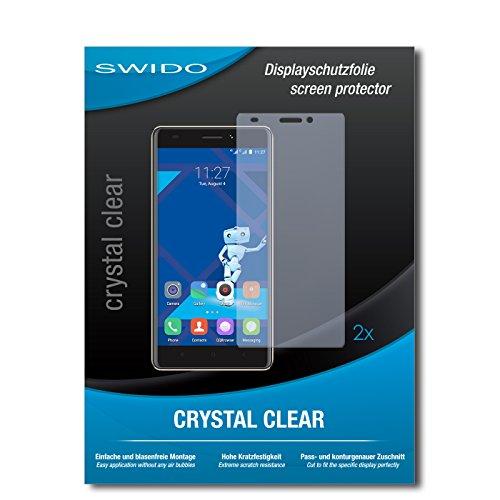 SWIDO Schutzfolie für Haier Phone L53 [2 Stück] Kristall-Klar, Hoher Härtegrad, Schutz vor Öl, Staub & Kratzer/Glasfolie, Bildschirmschutz, Bildschirmschutzfolie, Panzerglas-Folie