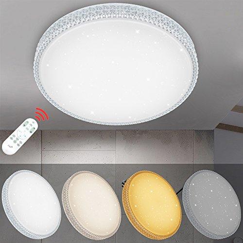 VINGO® 60W LED Deckenleuchte Dimmbar Starlight-Design Wandlampe Wohnraum Schlafzimmer Lampe Mordern Dekor IP44 Geeignet für Wohnzimmer Schlafzimmer