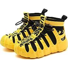 Chicos Chicas Alta Zapatillas Deportivas Zapatillas de Deporte Moda Negro Rojo Amarillo Zapatillas de Deporte para
