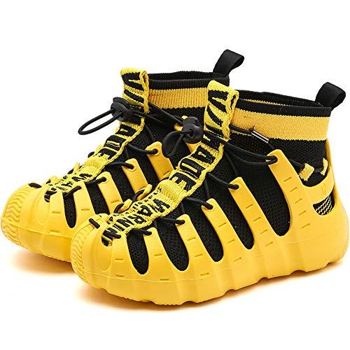 Qianliuk Jungen Mädchen High Top Sport Laufschuhe Mode Schwarz Rot Gelb Schuhe Kinder Sneakers Komfortable weiche Sohle Schuhe