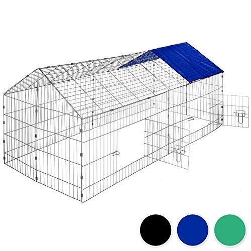 tectake-jaula-recinto-para-conejo-ejecutar-con-parasol-exterior-animales-180-x-75-x-75-cm-disponible