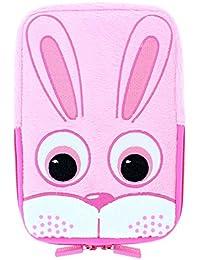 TabZoo Universal Pouch Case Schutzhülle mit integriertem Stand und Reißverschluss für 8 Zoll (20,3 cm) Tablets im niedlichen kinderfreundlichen Design - Häschen
