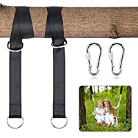 Jooheli Swing Attachment, Hammock Attachment Set for Swing Hammocks Camping Nylon Waterproof Attachment Set with 2 Heavy Duty Carabiners and D-Rings Polyester Straps Holds up to 1000 kg