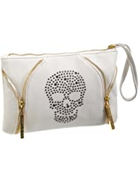 Friis & Company  Plimadolia Skull Clutch Wallet, sac bandoulière femme