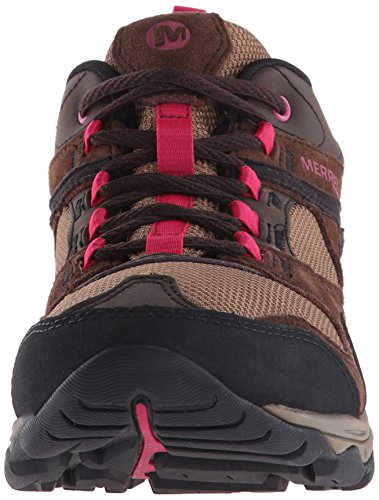 Merrell - Kimsey, Scarpe da Arrampicata Basse Donna Multicolore (Dark Brown)