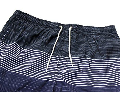 iPretty Herren Sommer Strand Shorts Badeshorts Badehose Boardshorts mit Muster Streifen ohne innennetz