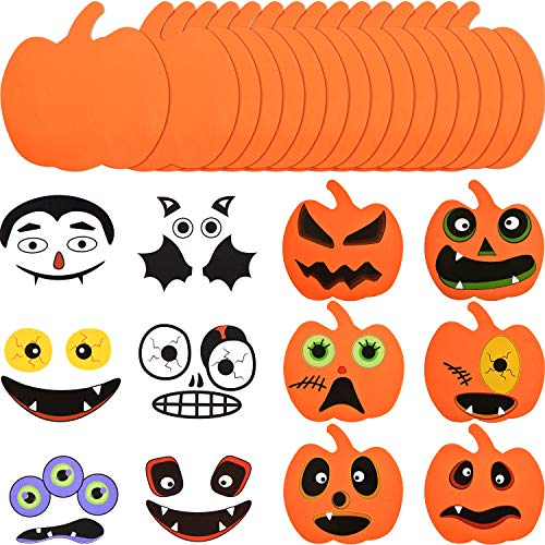 Halloween Schaum - Outus 16 Stücke Halloween Schaum Kürbis