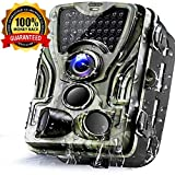 Micoke Camera de Chasse 16MP 1080P Trail Camera avec 42 Infrarouges LED Vision...