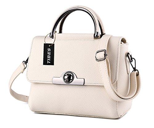 f774cde77113 Tibes Modern Womens Cross Body Bag Cute Handbag Small Shoulder Bag Beige -  Buy Online in Oman.