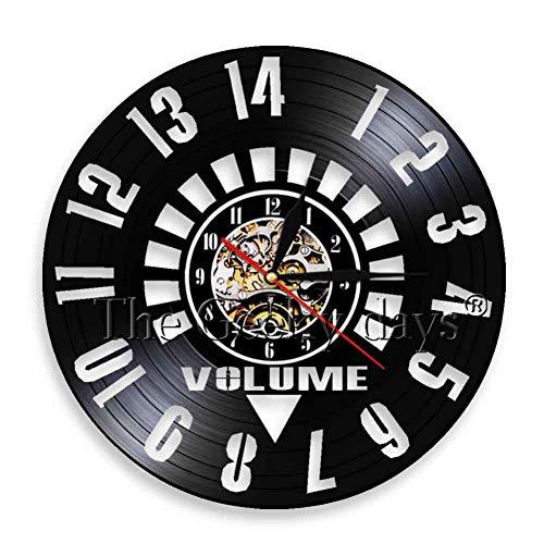 DFRTY 1 Pieza Reloj Vinilo Reloj Pared Amplificador
