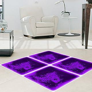 Art3d Fancy Floor Tile For Kids Room Liquid Encased Floor Tile, 12 X 12 Purple by Art3d