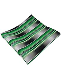TigerTie - pañuelo en verde verde esmeralda plata antracita gris rayas - paño poliéster