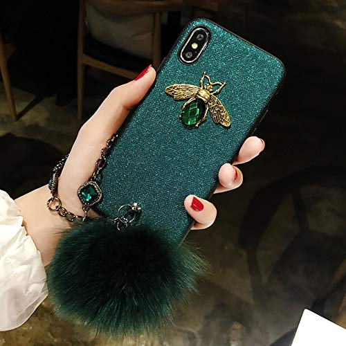 CLEAVE WAVES Iphone6 / 6s Fall, Handy-Fall TPU Anti-Drop, Bling Diamond Hairy Fur Schutzhülle,GreenChain (Fällen Bling Iphone6)