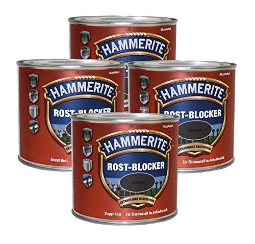 Hammerite  <strong>Inhaltsstoffe</strong>   Alkydharz, Rostschutzpigmente, Pigmente, Füllstoffe, Lösemittel, Additive, Treibmittel