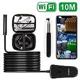 Opard Wifi Endoskop Wireless Endoskopkamera 2.0 Megapixel 1080P HD Drahtlose Inspektionskamera,IP68 Wasserdichte mit 8 Verstellbare LED für IOS Android Smartphone,Tablette -10 Meter