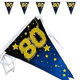 80. Geburtstag Wimpelkette