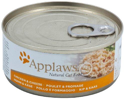 Applaws Katze Dose Hühnchenbrust und Käse, 24er Pack (24 x 156 g)