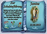 Tortenaufleger Fototorte Tortenbild Schulanfang Einschulung 1. Schultag DIN A5 SE16