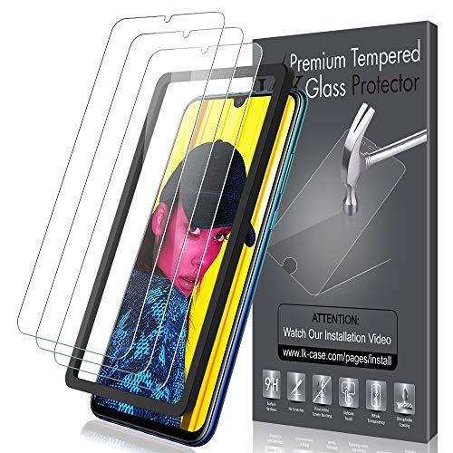 K&L LK [3 Stück] Schutzfolie für Huawei P Smart 2019, Huawei P Smart 2019 Panzerglas, [Alignment Frame Einfache Installation] HD Klar Displayschutzfolie [Bubble Free] mit lebenslanger Ersatzgarantie
