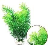 Künstliche Wasserpflanze für Home Decor/Büros/Aquarien, Y56unschädliches Unkraut Wasser Ornament Deko Kunstblume Kunstpflanze Aquarium, 30cm