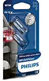 Philips WhiteVision Xenon Effect W5W Car Bulb 12961NBVB2, Double Blister - Light blue