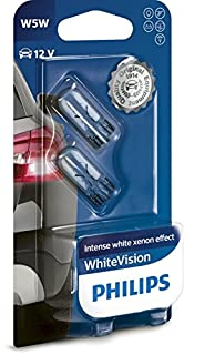 Philips WhiteVision Xenon Effect W5W Car Bulb 12961NBVB2, Double Blister (B00MZQUU70) | Amazon price tracker / tracking, Amazon price history charts, Amazon price watches, Amazon price drop alerts