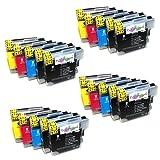 20x XL hochwertige kompatible Druckerpatronen für BROTHER kompatibel zu LC1100BK LC1100Y LC1100C LC1100M LC980BK LC980Y LC980C LC980M für Brother MFC-250C MFC-255CW MFC-290C MFC-295CN MFC-297C MFC-490CN MFC-5490CN MFC-5890CN MFC-790CW MFC-795CW MFC-6490CW MFC-6890CDW MFC-990CW DCP-145C DCP-163C DCP-165C DCP-167C DCP-185C DCP-195C DCP-365CN DCP-373CW DCP-375CW DCP-377CW DCP-383C DCP-385C