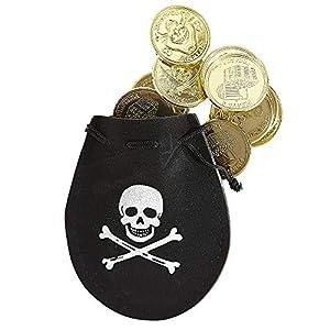 WIDMANN Estuche Pirata con 12 doblones Adulto Medieval
