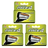 Dorco Pace 4 Replacement Cartridges – Razor Blades for Men - Common Docking System Compatible With Any Dorco Handle – Safe, Sensitive Men's Shave - Lubrication Strip Included – 12 Count