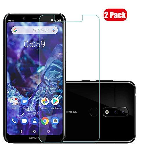 Voviqi Nokia 5.1 Plus Panzerglas, 9H verbesserte gehärtetes Glas Folie [Blasenfrei] [Anti-Fingerabdruck] Bildschirmschutzfolie für Nokia 5.1 Plus, 2 Stück