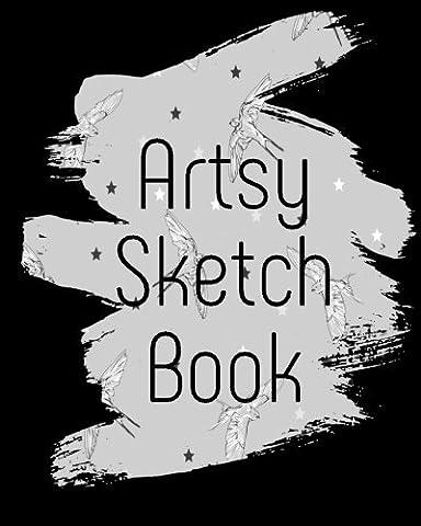 Artsy Sketch Book: Bullet Grid Journal, 8 x 10, 150 Dot Grid Pages (sketchbook, journal, doodle)